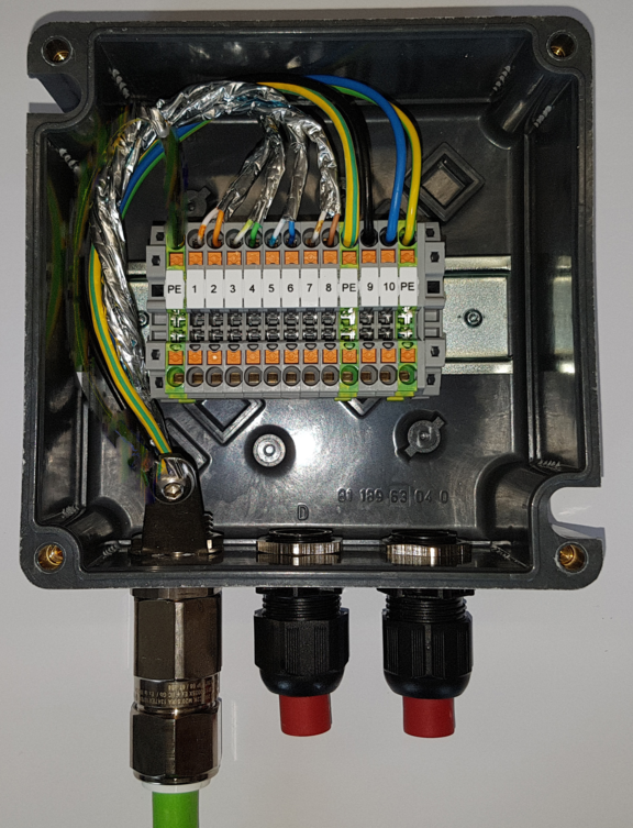 ExTB-3 Junction Box open